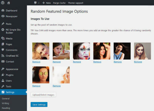 setting a random featured image